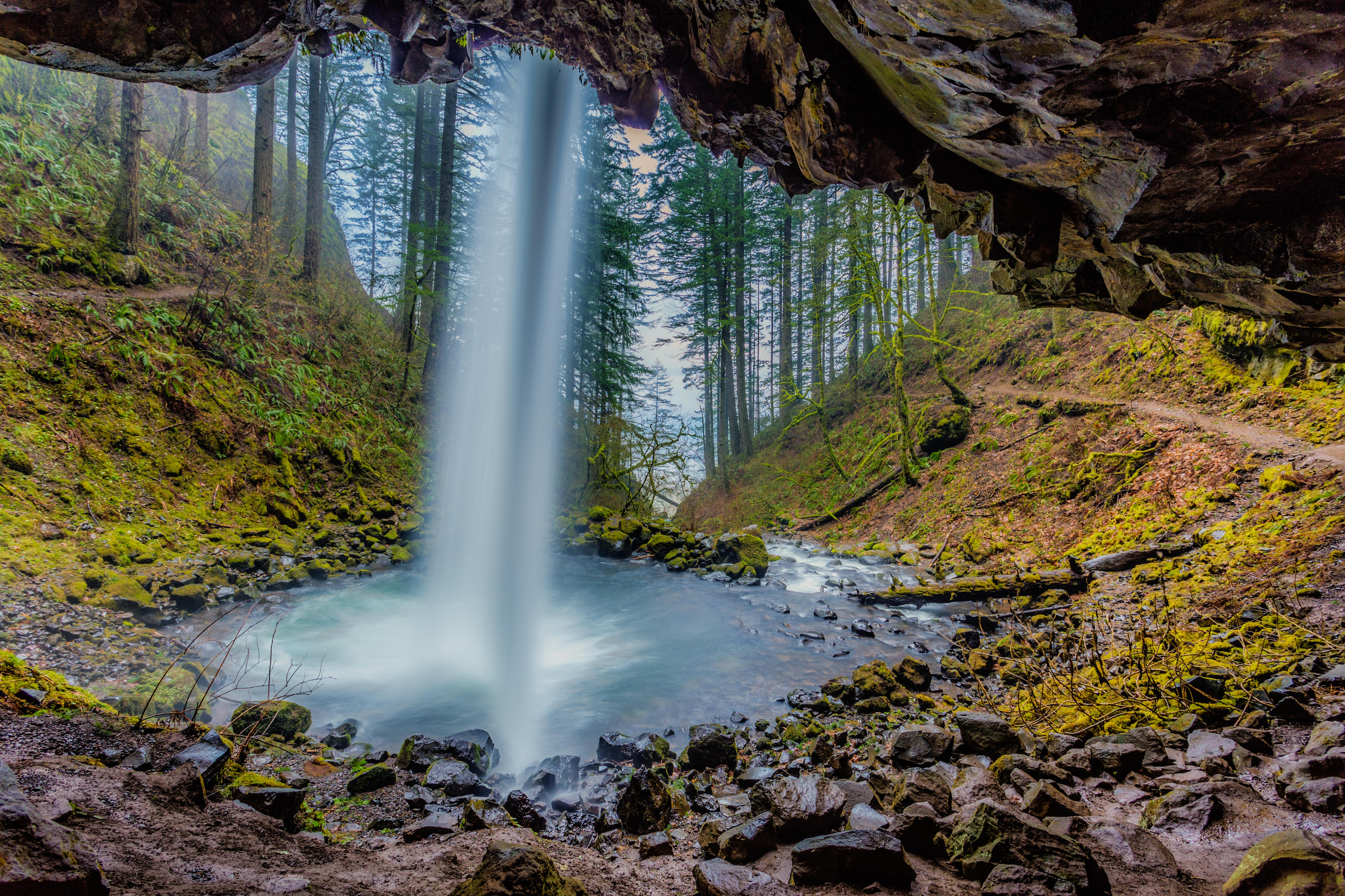 обои Columbia River Gorge, Oregon, USA, водопад картинки фото