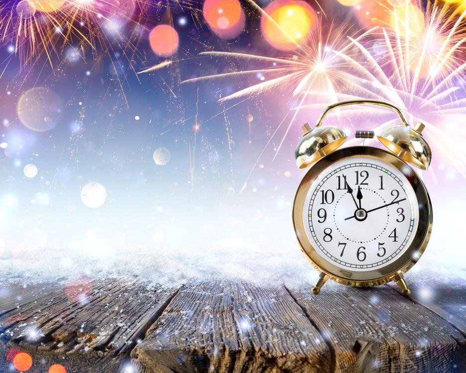 Фото бесплатно Новогодние фоны, Новогодний фон, Новогодние обои, С новым годом, новогодний клипарт, часы, новый год