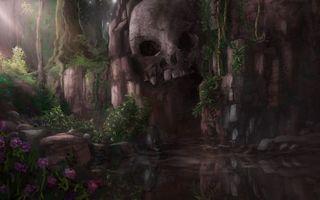 Бесплатные фото озеро,скала,череп,пещера,смерть,ужас