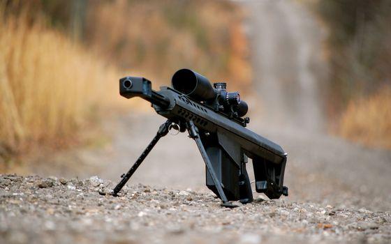 Заставки снайперская винтовка, черная, прицел