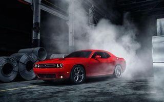 Фото бесплатно Dodge, ярко-красный, дым