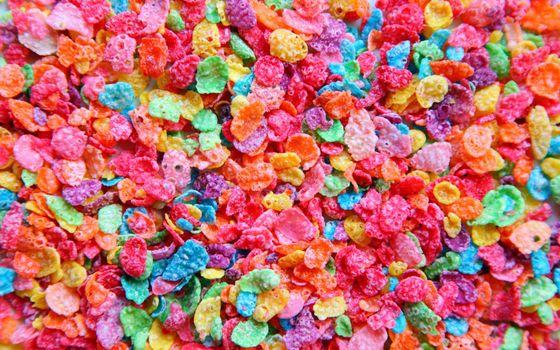 Заставки разноцветные, кукурузные, хлопья