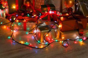 Фото бесплатно Новогодние обои, освещение, дизайн