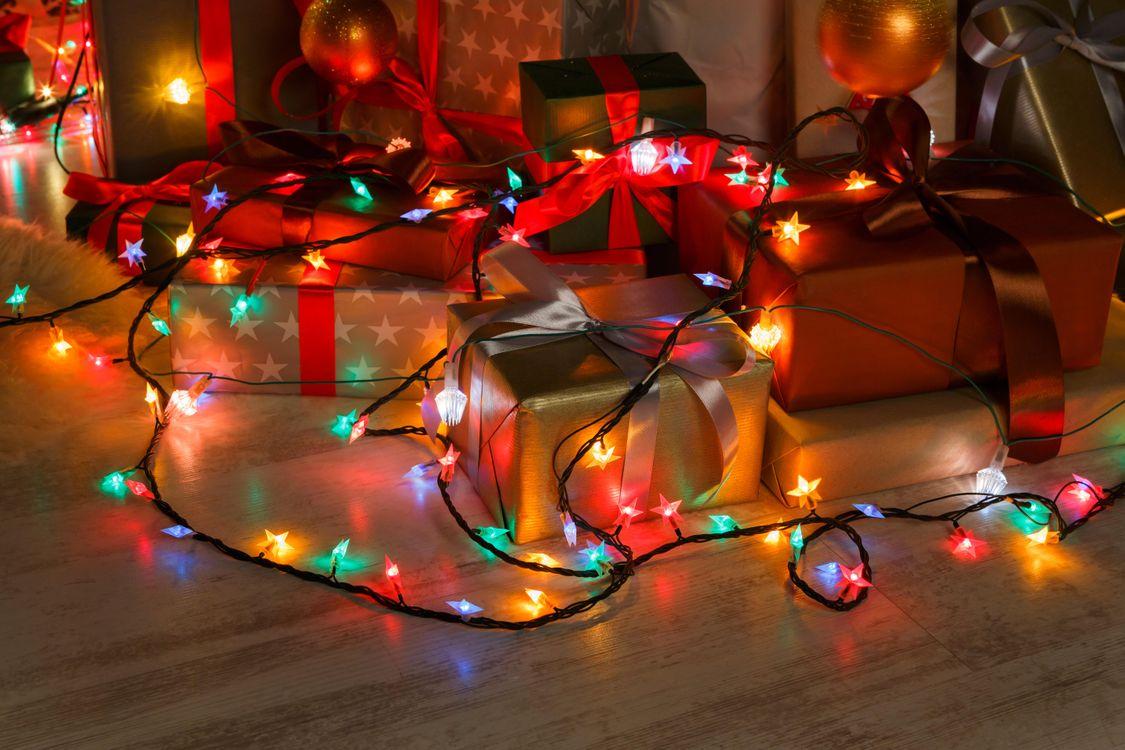 Фото бесплатно Рождество, фон, дизайн, элементы, новогодние обои, новый год, иллюминация, украшения, гирлянды, новый год