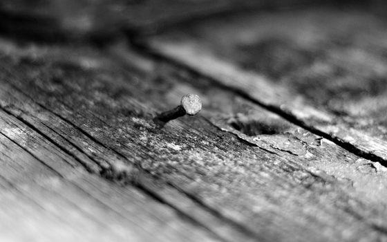 доски, дерево, щели, старые, гвоздь