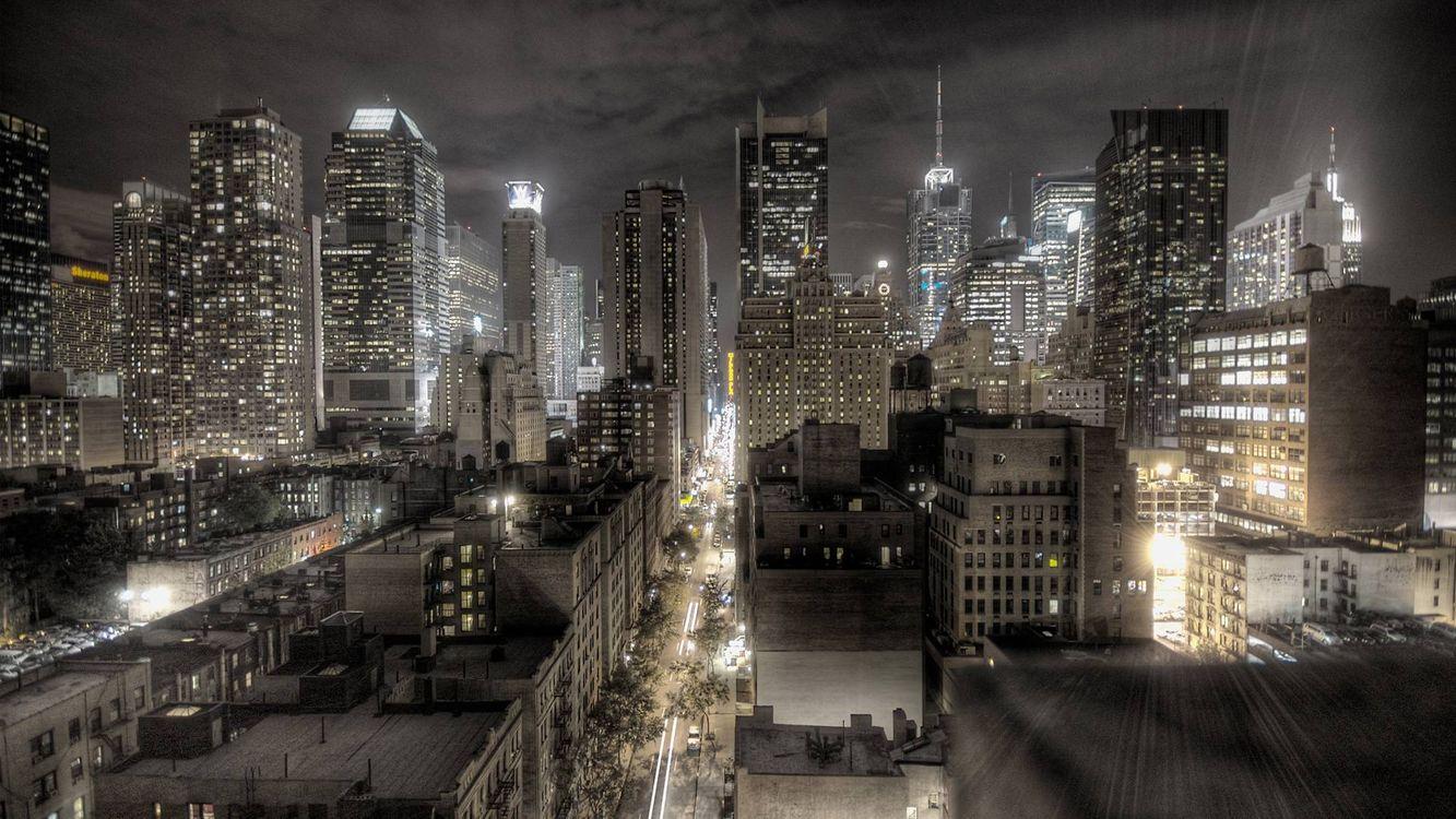 Фото бесплатно огни, машины, ночь - на рабочий стол