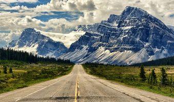 Фото бесплатно дорога, поля, горы