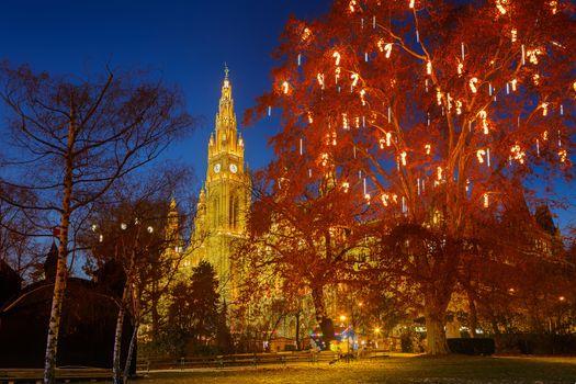 Фото бесплатно Центральный парк, вечер, огни