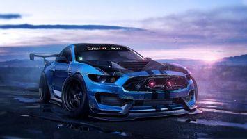 Бесплатные фото Ford Mustang Shelby GT-350,автомобиль,тюнинг,дрэг-рейсинг