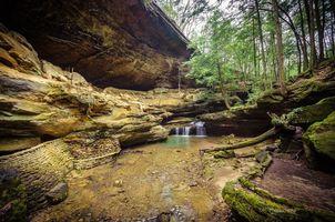 Фото бесплатно Огайо, лес, скалы
