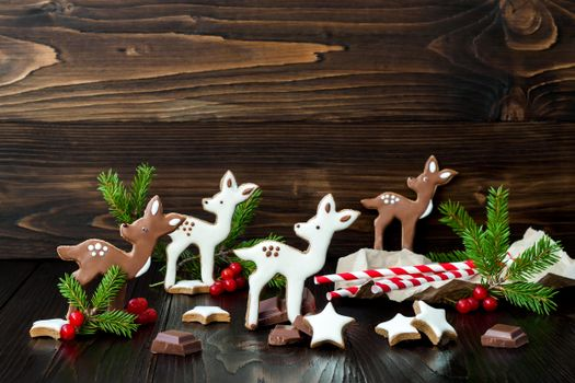 Бесплатные фото праздник,новый год,рождество,печенье,шоколад,глазурь