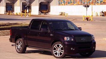Бесплатные фото форд,пикап,черный,фары,решетка,диски