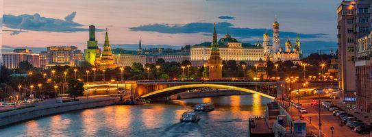 Фото бесплатно панорама, Москва, Кремль
