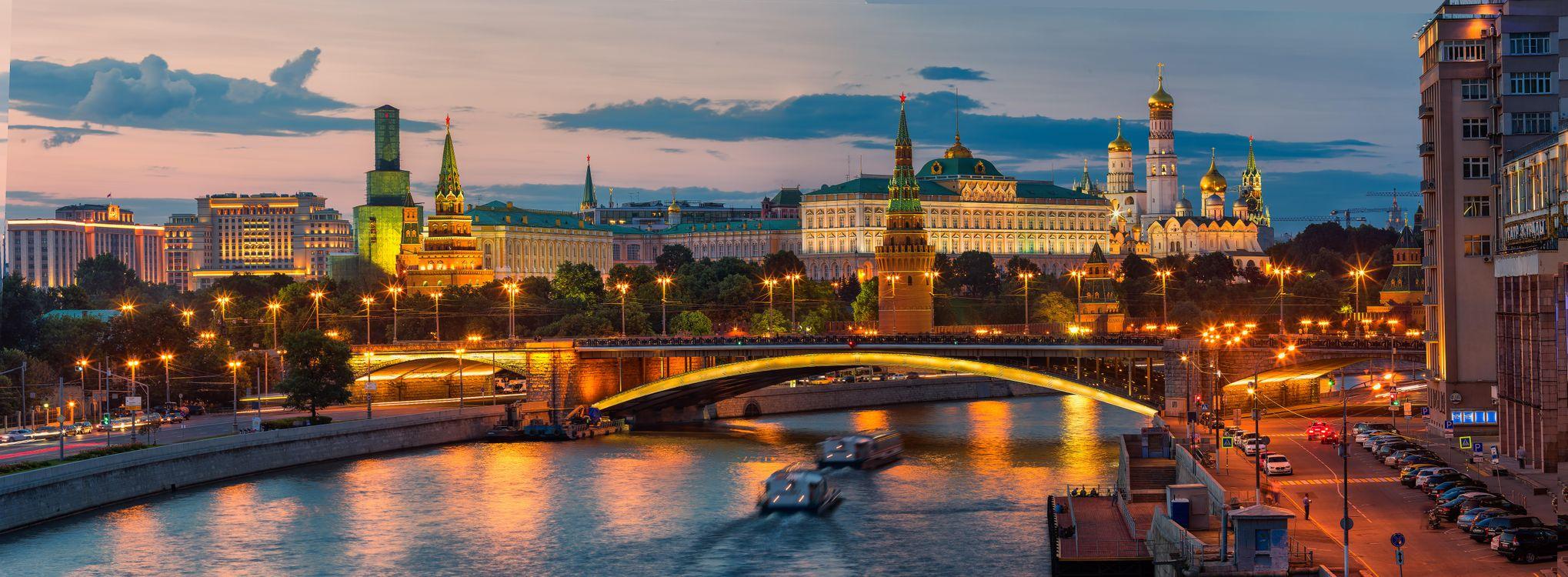 Фото бесплатно Москва, Россия, Красная Площадь, Московский Кремль, панорама, город