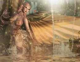 Бесплатные фото девушка,фантастическая девушка,ангел,фантастика,art