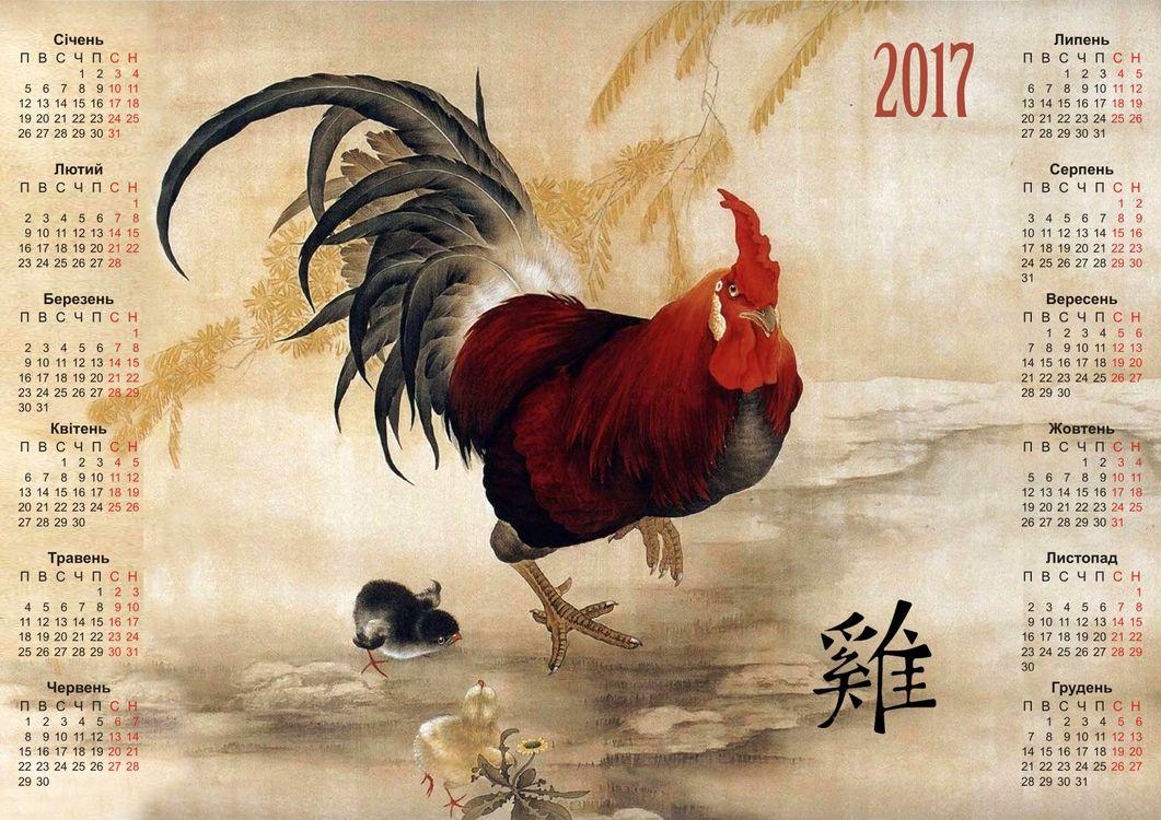 Фото бесплатно Fire Cock, 2017, Настенный календарь на 2017 год Fire Cock - на рабочий стол