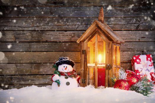Фото бесплатно новогодние обои, новогодний фон, снеговик