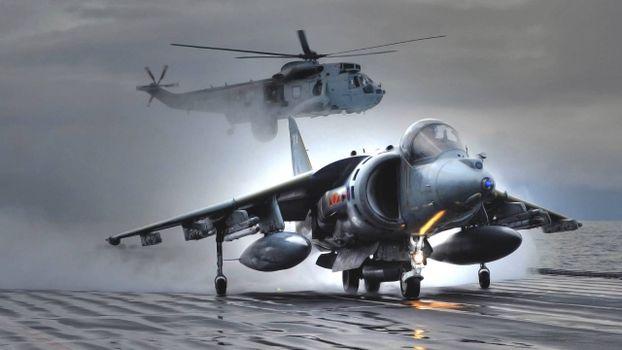 Photo free smoke, propellers, airplane