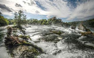 Фото бесплатно река, пороги, брызги