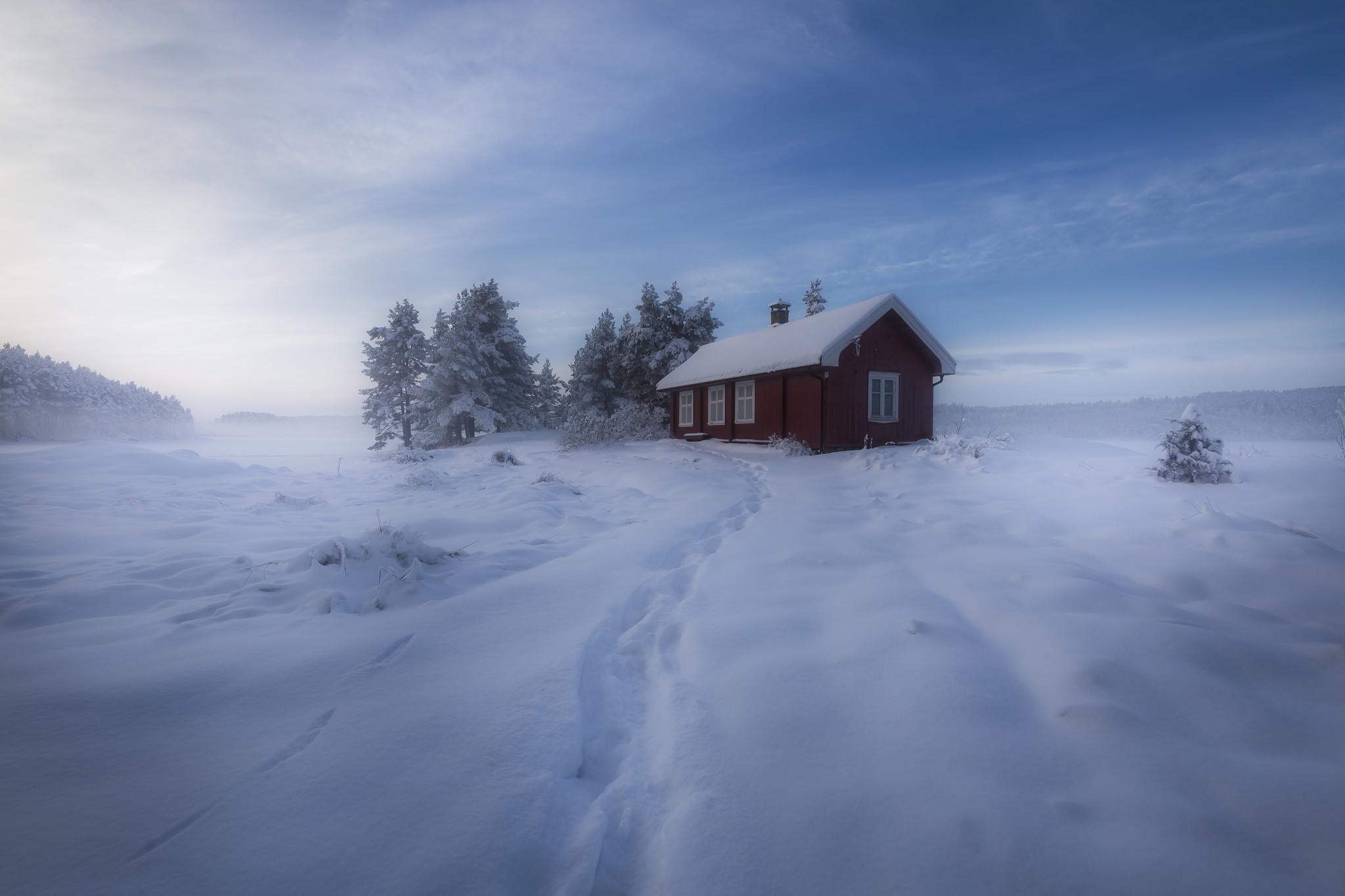 Норвегия, Скандинавия, зима