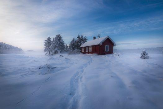 Фото бесплатно Норвегия, Скандинавия, зима