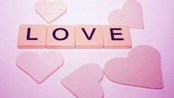 Фото бесплатно love, любовь, надпись, сердечки