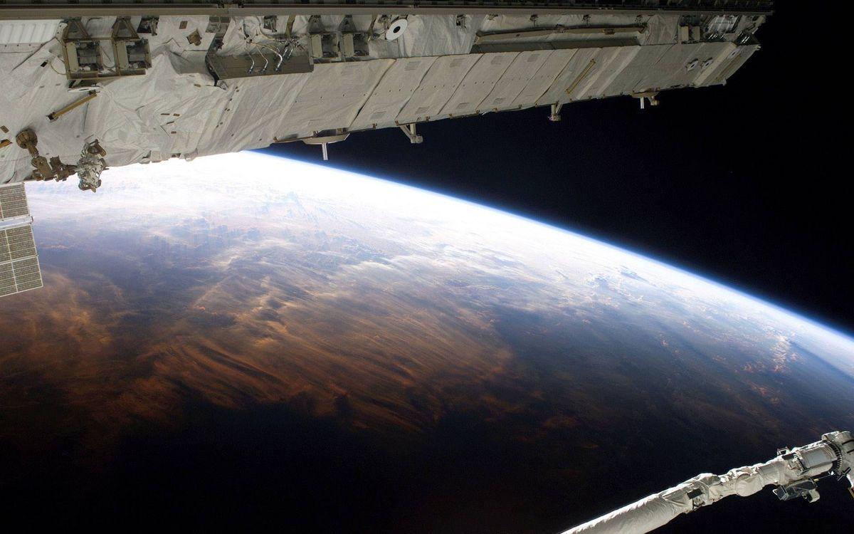 Фото бесплатно планета, земля, орбита, мкс, космос
