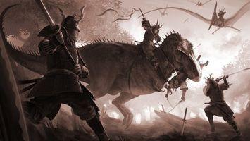 Заставки динозавры, воины, доспехи