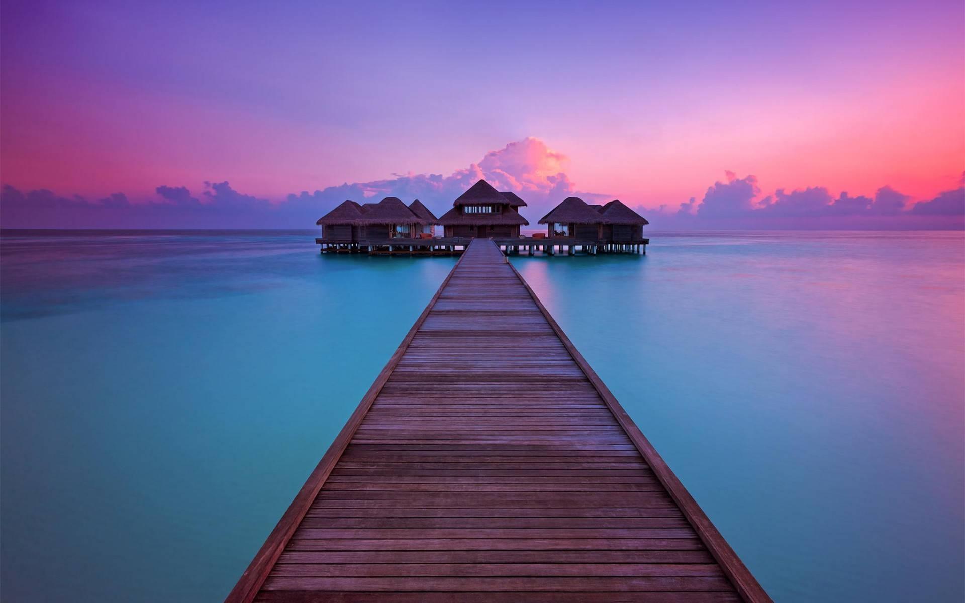 мостик, кофе, океан