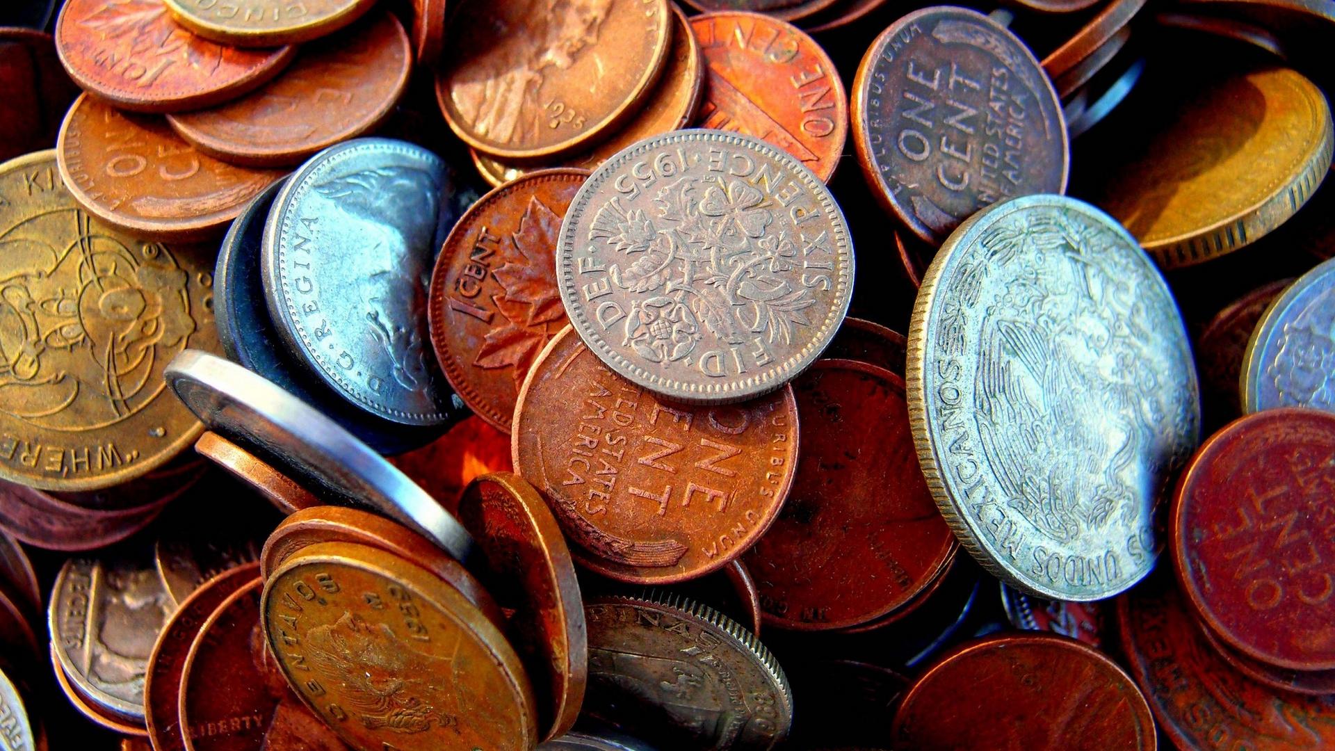 обои копейки, монеты, металл, чеканка картинки фото