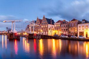 Фото бесплатно город, огни, нидерланды