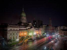 Бесплатные фото Buenos Aires,Аргентина,Буэнос айрес,Argentina,город,ночь,огни