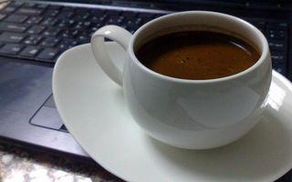 Фото бесплатно черный, ноутбук, чашка