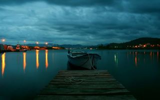 Фото бесплатно побережье, причал, лодки
