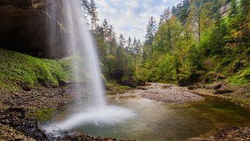 Бесплатные фото водопад,скалы,лес,деревья,природа