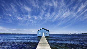 Бесплатные фото мостик,причал,дом
