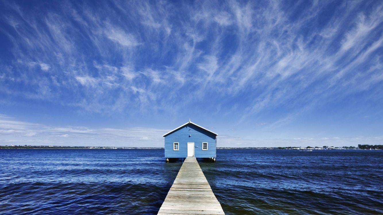Фото бесплатно мостик, причал, дом, пейзажи