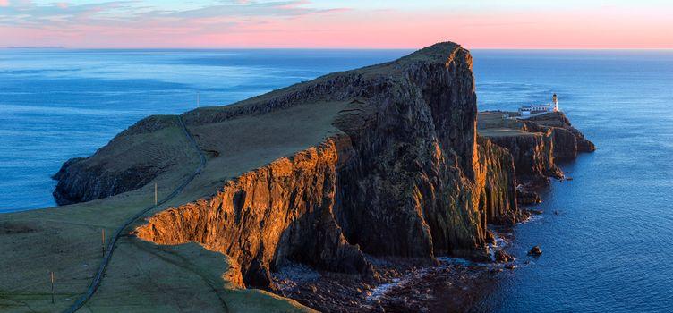 Бесплатные фото Neist Point Lighthouse,Маяк,остров Скай,Шотландия