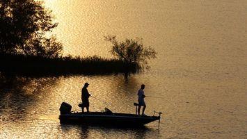 Фото бесплатно рыбаки, лодка, отдых