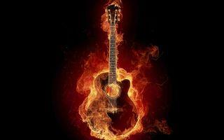 Заставки пламя, струны, черный