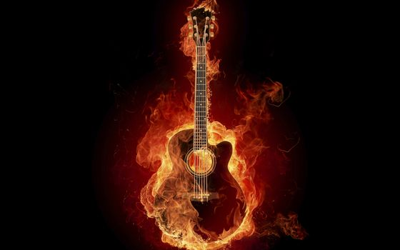 Photo free flame, strings, black