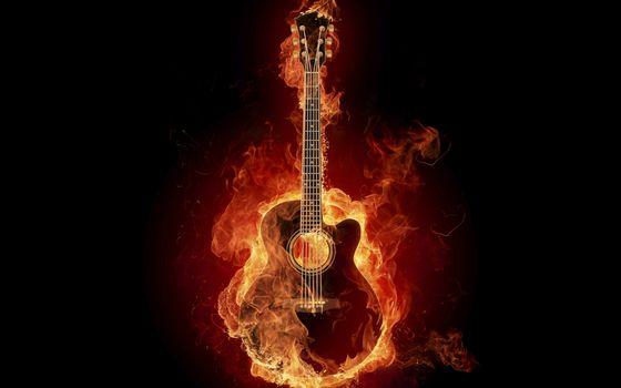 Photo free flame, strings, black