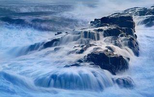 Фото бесплатно скалы, море, брызги