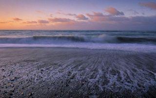 Фото бесплатно волны, берег, небо