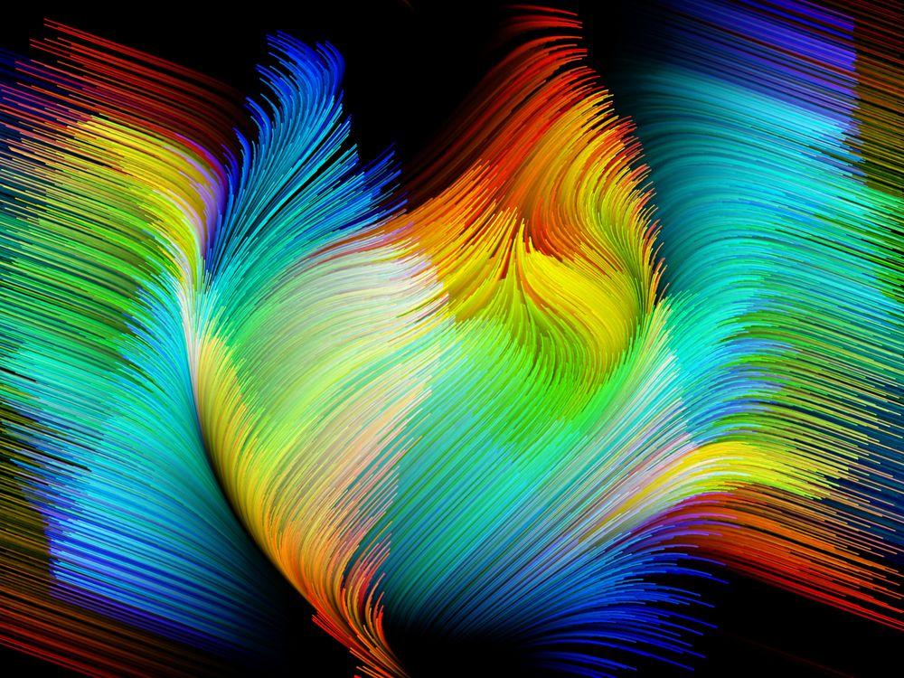 Крылья птицы красками · бесплатное фото