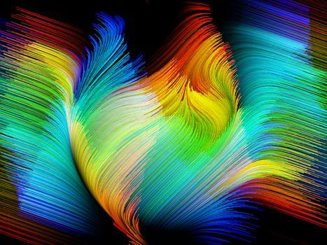Крылья птицы красками