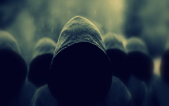 Заставки скрытые лица, люди, капюшоны