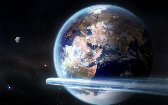 Фото бесплатно планеты, звезды, метеорит