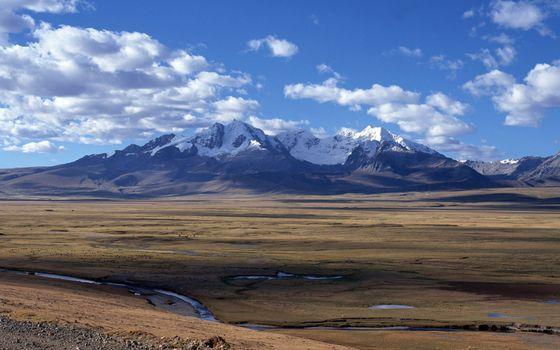 Фото бесплатно долина, ручей, лужи