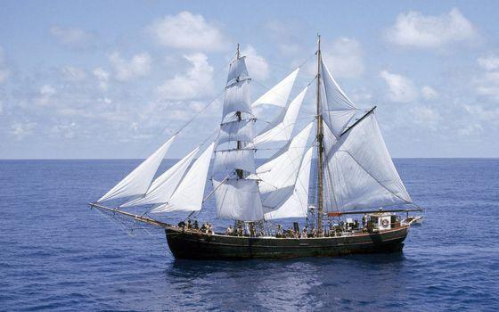 Фото бесплатно мачта, небо, корабль